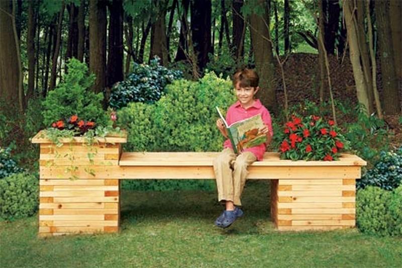 Скамейка для дачи своими руками из дерева видео