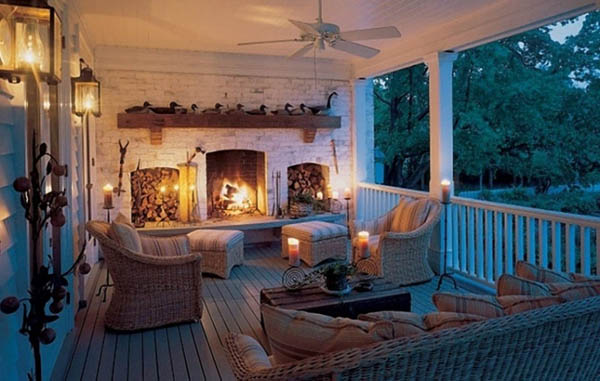 Fireplace, candles, lanterns…So romantic…So inviting