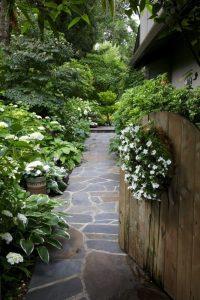 stone walkway garden decoration idea