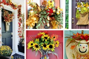 14 Splendid Fall Front Door Decorations