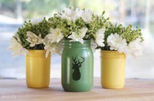 stenciled-mason-jar-vases