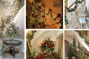20 Christmas Decorated Staircases