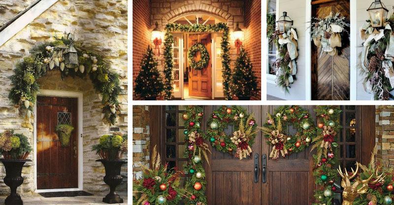 20 Christmas Front Door Decorations