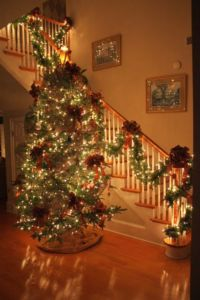 Christmas staircases decoration 1